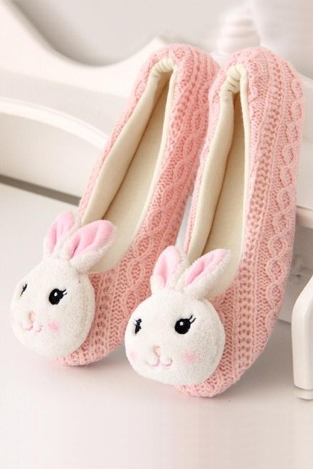 熊猫兔子可爱毛线鞋