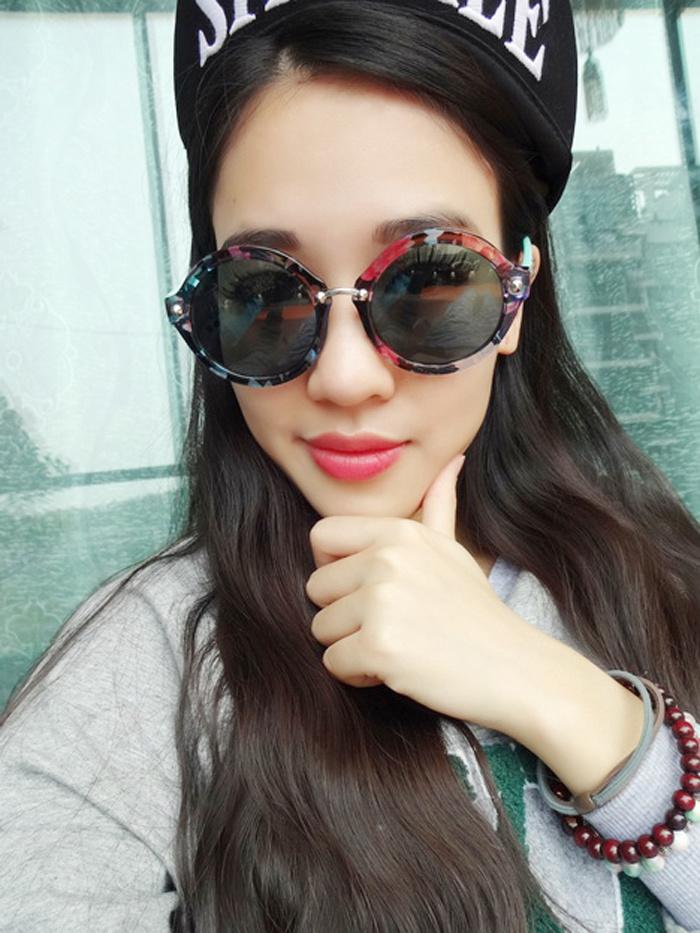 2014复古小清新圆框墨镜眼镜