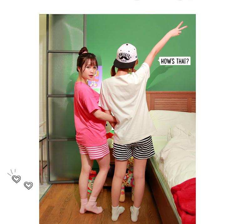 韩版新款居家闺蜜睡衣套装