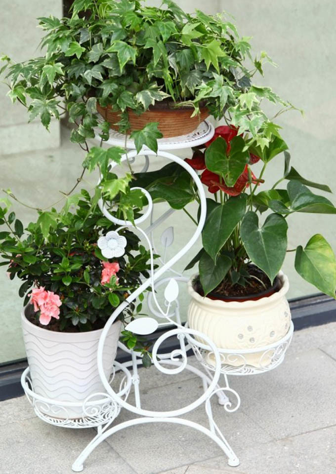 阳台实木花架多层铁艺花架落地花架子室内花盆架客厅绿萝花架特价