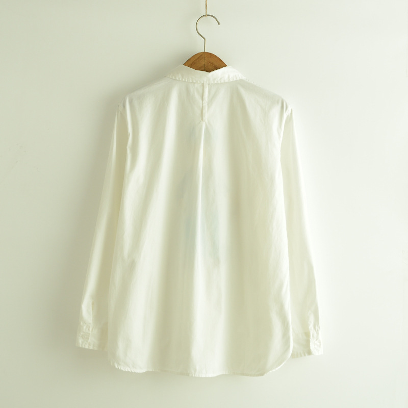 独家定制!可爱小人白色衬衫