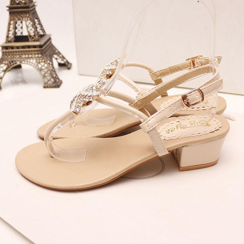 可爱海星水钻夹脚凉鞋