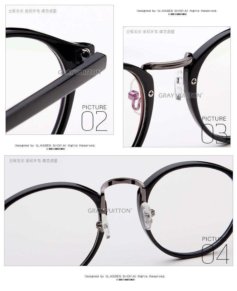 ayomi同款韩国复古圆形眼镜框