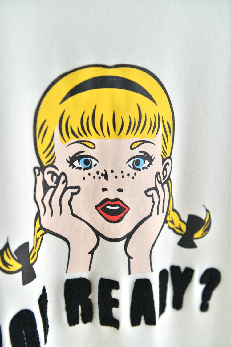 韩国雀斑女孩打底半袖t恤图片