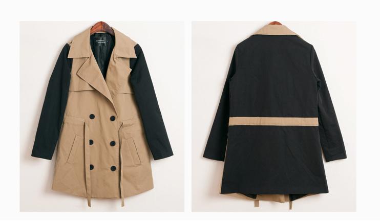 韩版学院风中长款女风衣外套