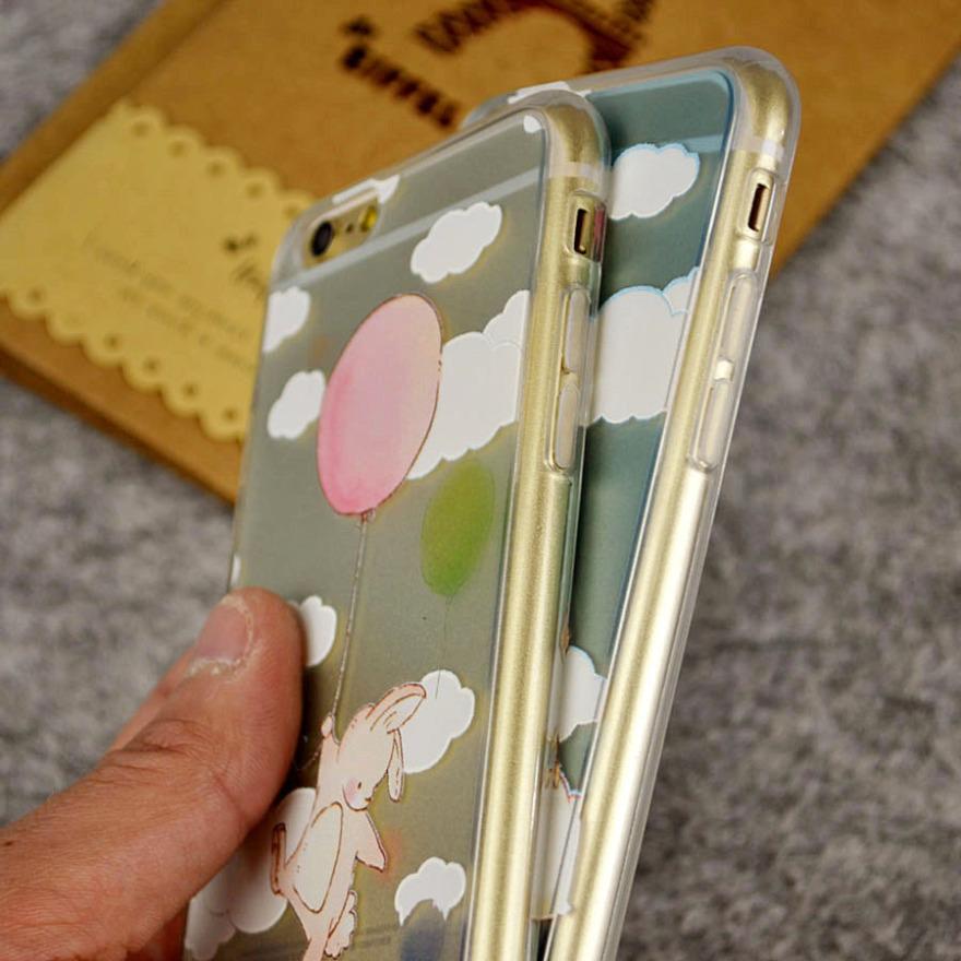 小动物全包硅胶防摔苹果手机壳