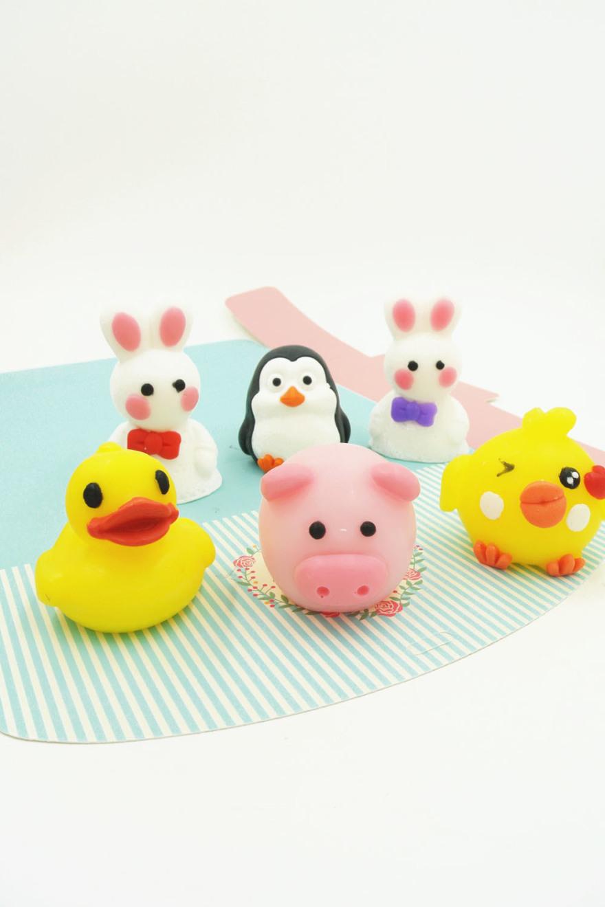 萌萌哒卡通造型可爱动物手工皂