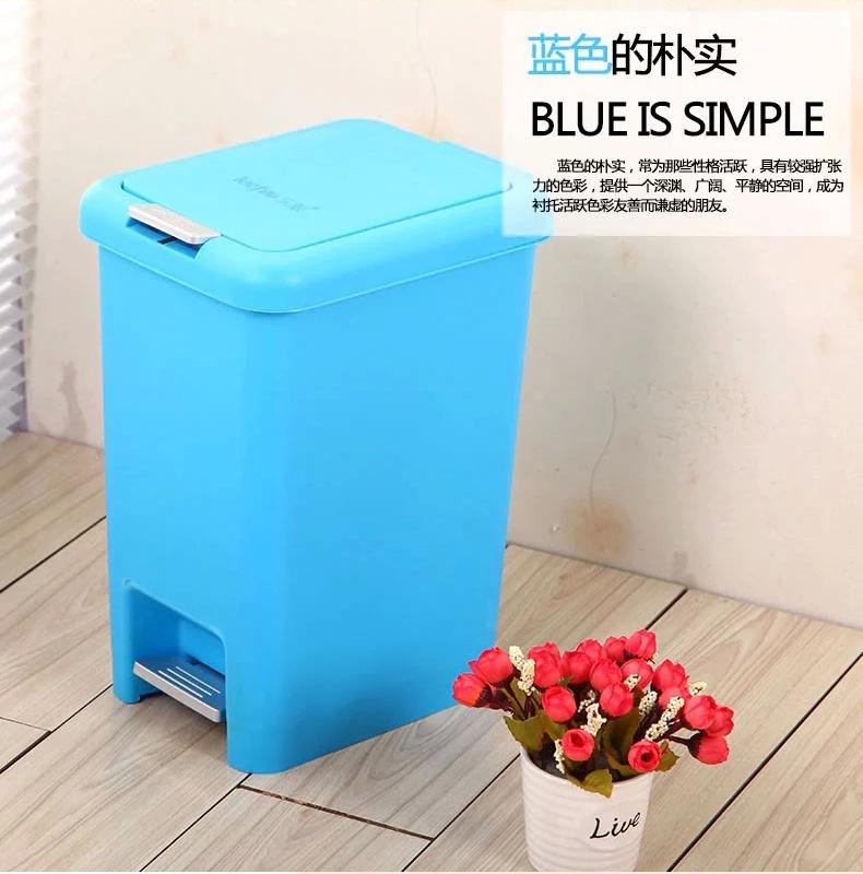塑料脚踏有盖家用创意垃圾桶