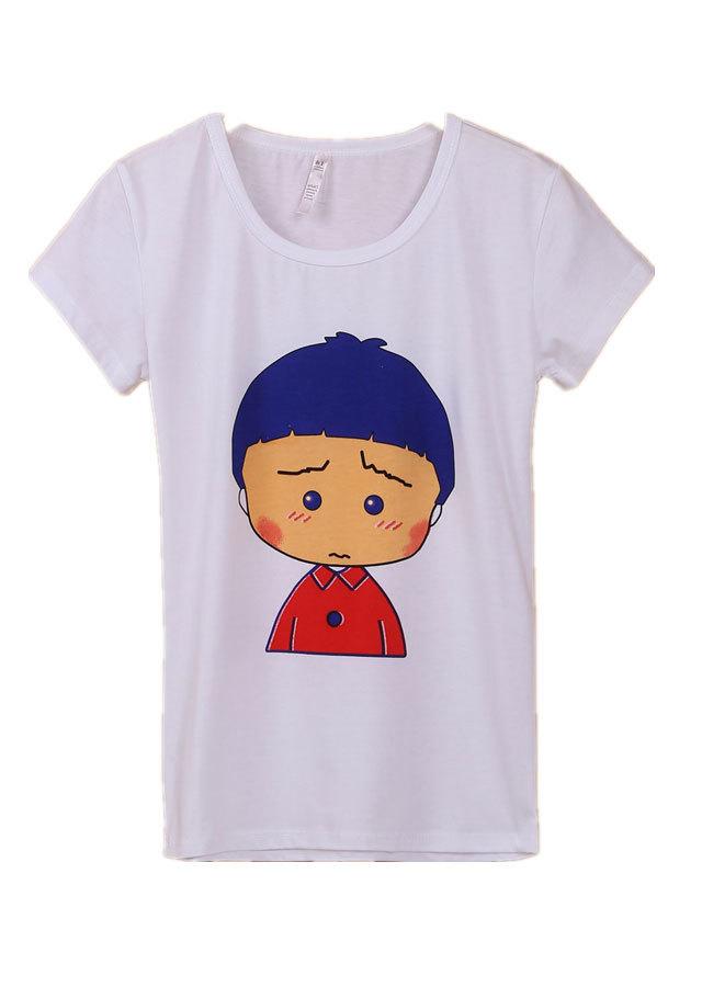 可爱小男孩图案t恤