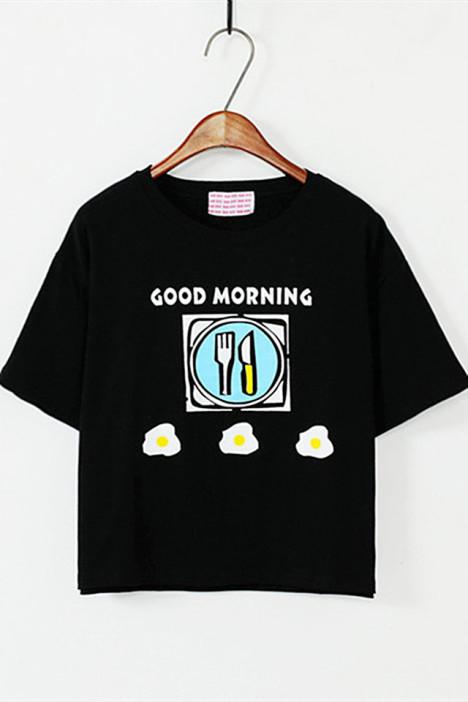 卡通创意涂鸦印花韩版t恤