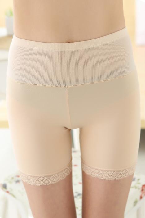 打底蕾丝花边防走光三分裤