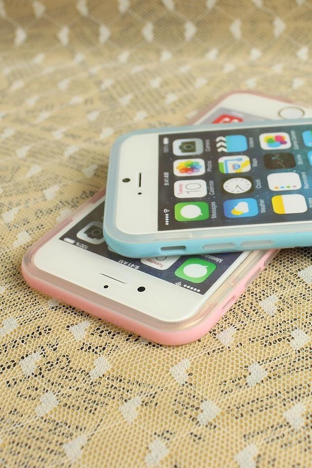 马卡龙边框iphone手机壳