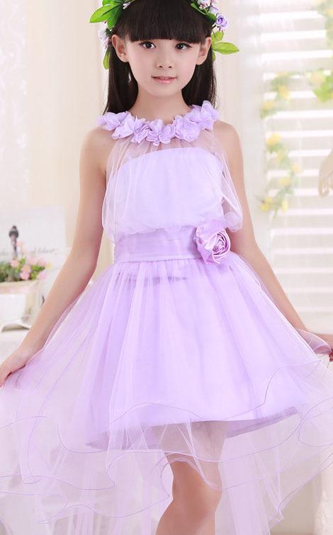 儿童婚纱女童公主裙摄影儿童服装礼服拖尾裙花童蓬蓬长裙
