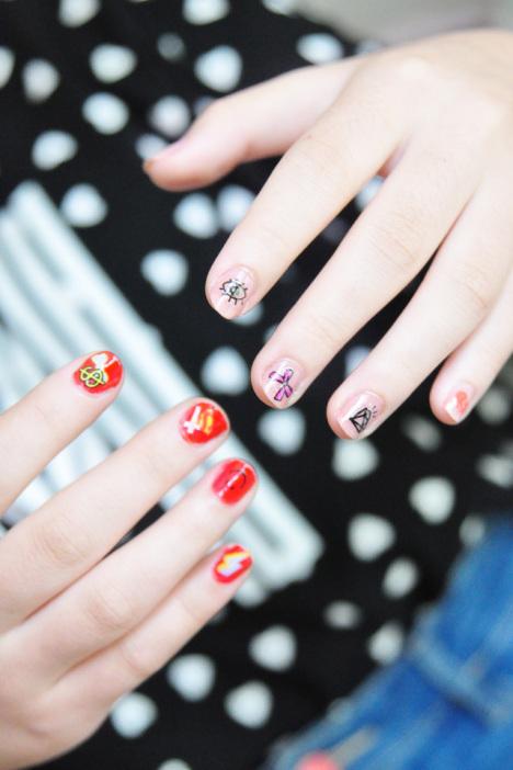 指甲贴,时尚,可爱,个性,简单