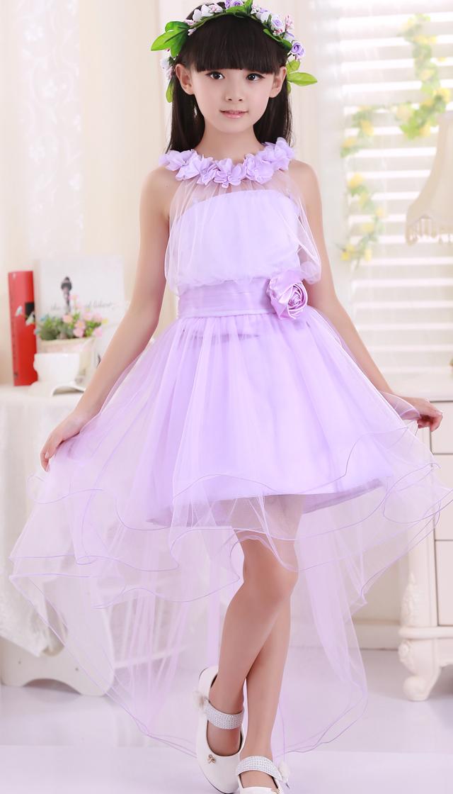 儿童婚纱女童公主裙摄影儿童服装礼服拖尾裙花童蓬蓬