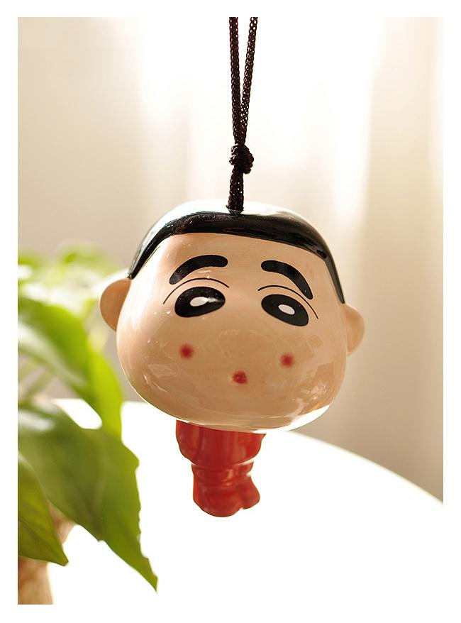【蜡笔小新の大嘴猴陶瓷风铃】-null-百货