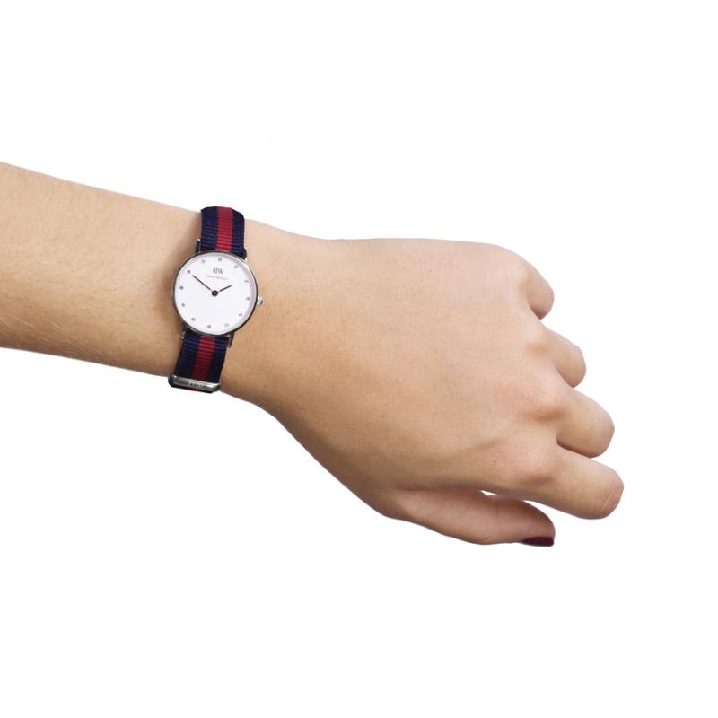 dw金边尼龙表带-时尚施华洛世奇镶钻女士手表26mm