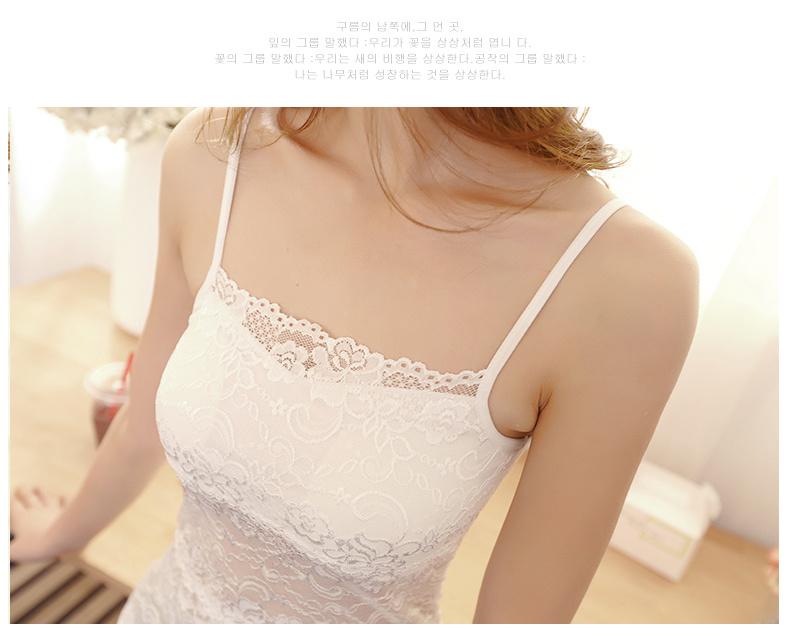夏韩版镂空透气修身防走光裹胸蕾丝背心女吊带打底衫抹胸小背心